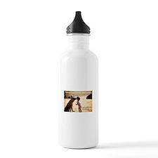 Kissing GSD Water Bottle