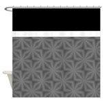 Black And Grey Flower Pattern Shower Curtains