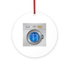 Washing Machine Ornament (Round)