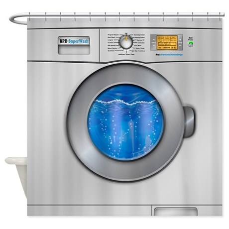 Washing Machine Shower Curtain