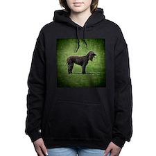 Cute Irish water spaniel Women's Hooded Sweatshirt