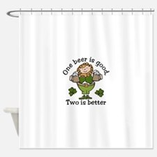 Two Beers Shower Curtain