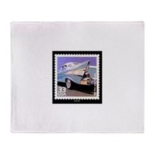 Funny Stamps Throw Blanket