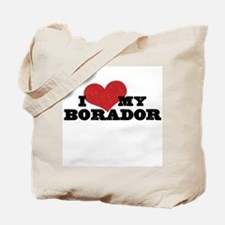 I Heart My Borador Tote Bag