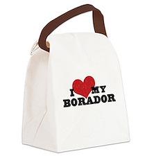 I Heart My Borador Canvas Lunch Bag