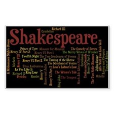 William Shakespeare's Plays Decal