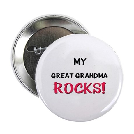 "My GREAT GRANDMA ROCKS! 2.25"" Button (10 pack)"