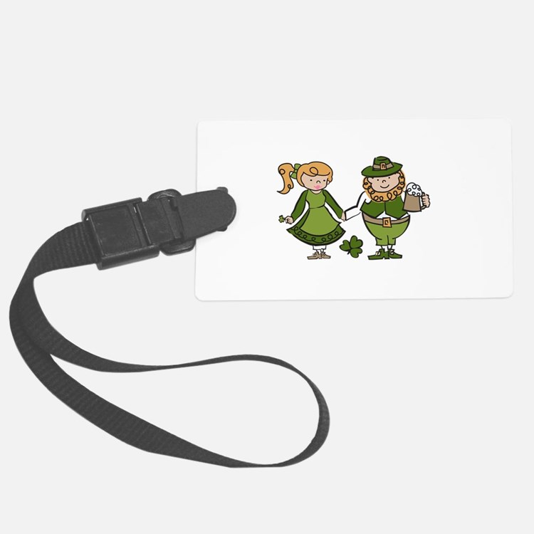 Irish Couple Luggage Tag