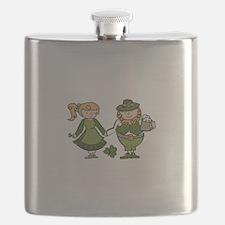 Irish Couple Flask