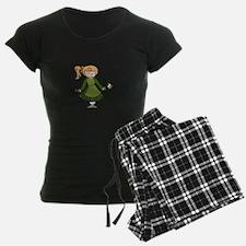 Lass With Flag Pajamas