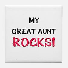 My GREAT AUNT ROCKS! Tile Coaster