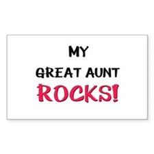 My GREAT AUNT ROCKS! Rectangle Decal