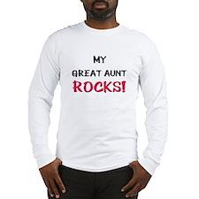 My GREAT AUNT ROCKS! Long Sleeve T-Shirt