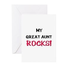 My GREAT AUNT ROCKS! Greeting Cards (Pk of 10)