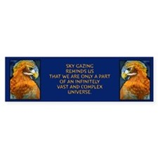 """Sky gazing reminds us..""Bumper Bumper Sticker"