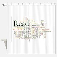 Unique Reading Shower Curtain
