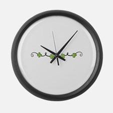Clover Vine Large Wall Clock