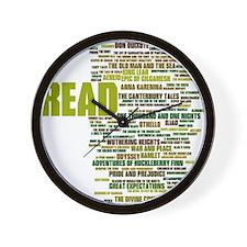 Cute Literature Wall Clock