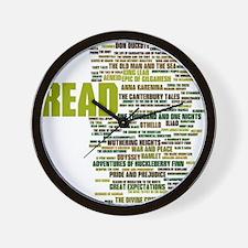 Unique Reading Wall Clock