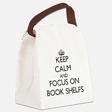 Cute Book shelves Canvas Lunch Bag