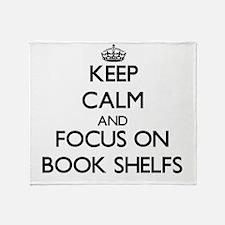 Unique Book shelves Throw Blanket