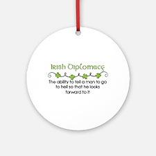 Irish Diplomacy Ornament (Round)