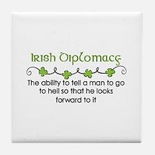 Irish Diplomacy Tile Coaster