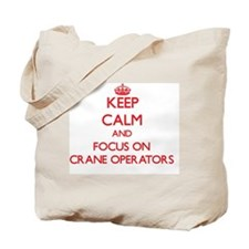 Cute Crane operator Tote Bag