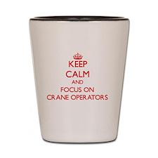 Cute Crane operator Shot Glass