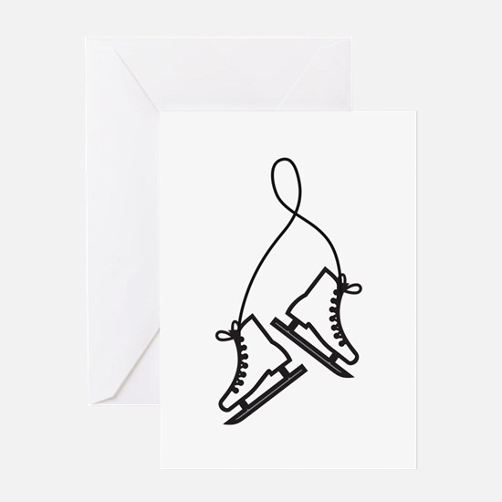 Ice Skates Greeting Cards