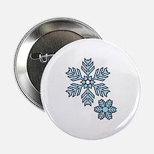 """Snow Flakes 2.25"""" Button"""