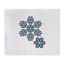Snow Flakes Throw Blanket