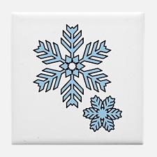 Snow Flakes Tile Coaster