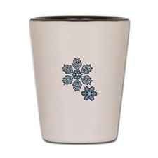 Snow Flakes Shot Glass