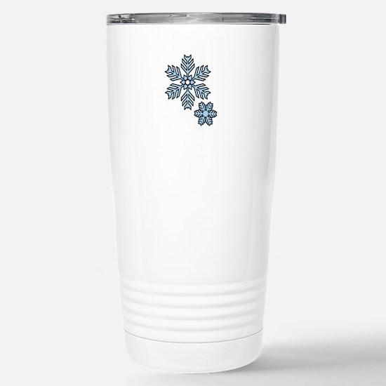 Snow Flakes Travel Mug