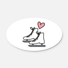 Love Ice Skating Oval Car Magnet