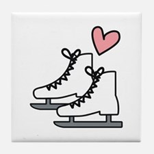 Love Ice Skating Tile Coaster