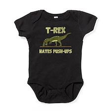 Tyrannosaurus Rex Dinosaur Hates Push Ups Baby Bod
