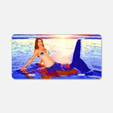 Mermaid Sunset Aluminum License Plate