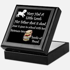 Mary Had A Little Lamb Keepsake Box