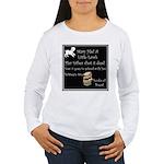 Mary Had A Little Lamb Women's Long Sleeve T-Shirt