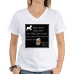 Mary Had A Little Lamb Women's V-Neck T-Shirt
