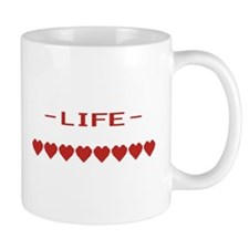 Video Game Heart Life Meter Mugs