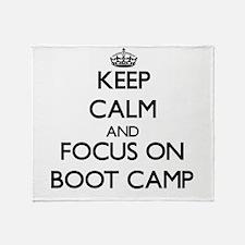 Cute Boot camp Throw Blanket