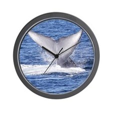 Majestic Blue Whale Flukes Wall Clock