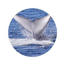 """Majestic Blue Whale Flukes 3.5"""" Button"""