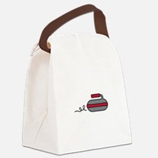 Curling Rock Canvas Lunch Bag