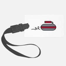 Curling Rock Luggage Tag