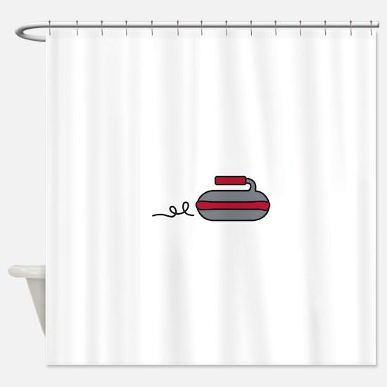 Curling Rock Shower Curtain