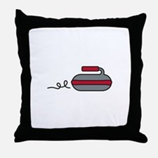 Curling Rock Throw Pillow